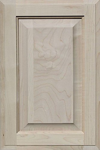 Unfinished Maple Cabinet Door, Square with Raised Panel by Kendor, 18H x 12W