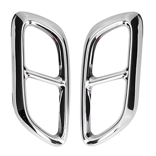 Embellecedor de punta de escape, 2 piezas de acero inoxidable, marco de garganta trasera, salida cuádruple, reemplazo adhesivo para Lacrosse 2013-2015