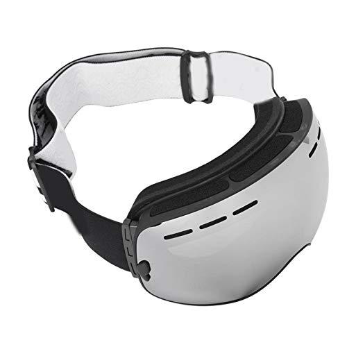 SALUTUYA Gafas Protectoras cómodas para Esquiar(Black Frame + Full Vacuum Silver Plating)