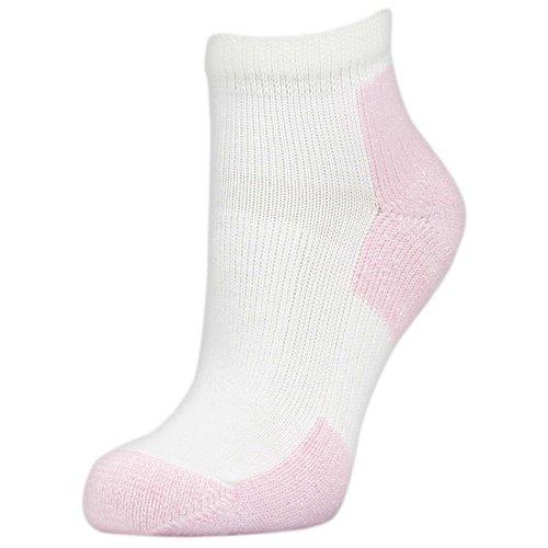 Thorlos Thick Cushion Distance Walking 3-Pair Pack White/Pink LG (Women's Shoe 9.5-11.5)