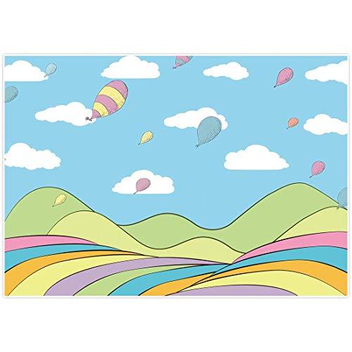 lovedomi 9x6ft Cielo Azul Dibujos Animados Globo Nube Blanca Yas Lores Fondo Fotog Fondo Cabina Estudio Fotográfi Vacaciones Familiares Estudio Fotog Material Vinilo