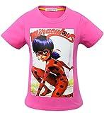 Beunique Fille Col Rond T-Shirts à Manches Courtes Impression Miraculous Ladybug Marinette Cotton Coloré Tee-Shirts Léger Respirants Pas Cher Confortable Cadeau Quotidien Chemise d'été 100-140cm