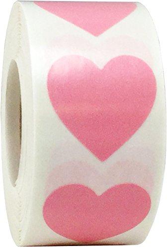Rosas Pegatinas Para el Corazón, 25 mm 1 Pulgadas Las Etiquetas de San Valentín 500 Paquete