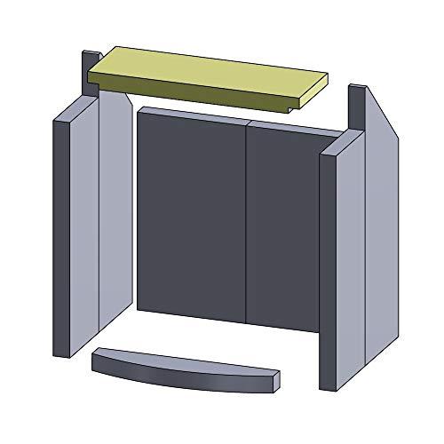 Flamado Feuerraumauskleidung Heizgasumlenkplatte geeignet für passend für Hark Kamin Ersatzteile Kaminofen Brennraumauskleidung Vermiculite 380 x 135 x 30 mm 1.150°C