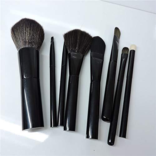 Maquillage Brush Contour Brush 8Pcs Noir Maquillage Brush Réparation Ombre À Paupières Brosse Blush Pinceau Maquillage Beauté Outils De Maquillage