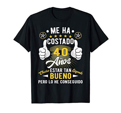 Regalo 40 cumpleaños hombres mujeres 40 años Camiseta