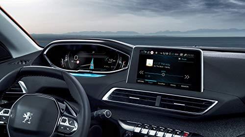 SHAOHAO Protector de pantalla para salpicadero de Peugeot 3008 5008 GT + navegación GPS, transparente, resistente a los arañazos 9H, antihuellas