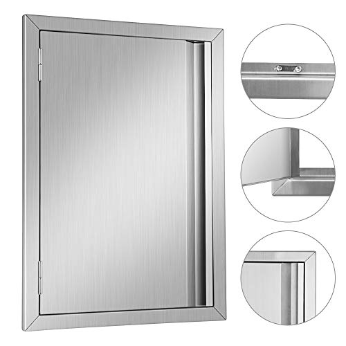MorNon BBQ Access Door 17X24Inch 304 Stainless Steel Outdoor Kitchen Doors for Grilling Station, Outside Cabinet, Barbeque Grill Access Doors