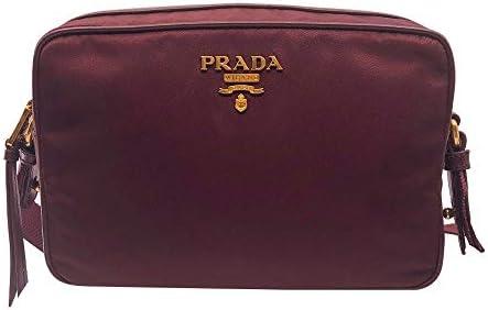 Prada Womens Burgundy Bandoliera Tessuto Nylon Leather Crossbody Bag 1BH089 product image