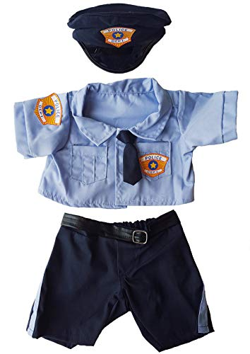Police Uniform Outfit Teddy Bear Clothes Fit 14 - 18 Build-a-bear, Vermont Teddy Bears, and Make Your Own Stuffed Animals by Stuffems Toy Shop