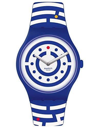 Swatch Reloj Analógico para Hombre de Cuarzo con Correa en Silicona SUOZ279