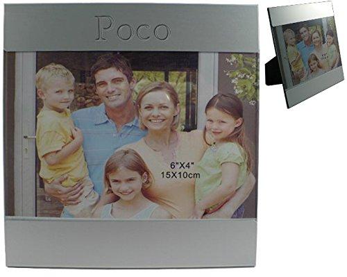 Kundenspezifischer gravierter Fotorahmen aus Aluminium mit Namen: Poco (Vorname/Zuname/Spitzname)