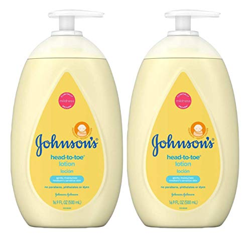 Johnson's Head-to-Toe Moisturizing Baby Body Lotion, Hypoallergenic and Paraben Free, 16.9 fl. Oz (Pack of 3) -  Johnsons, 1592925