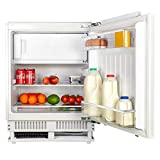 SIA RFU102 Built In 112L White Integrated Under Counter Fridge With Ice Box A+ & Metal Back
