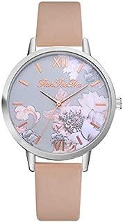 Fashion Branded Watch Women Watches Quartz Printed Flower Clock Leather Strap Watch for Women Gift Feminino #C.6