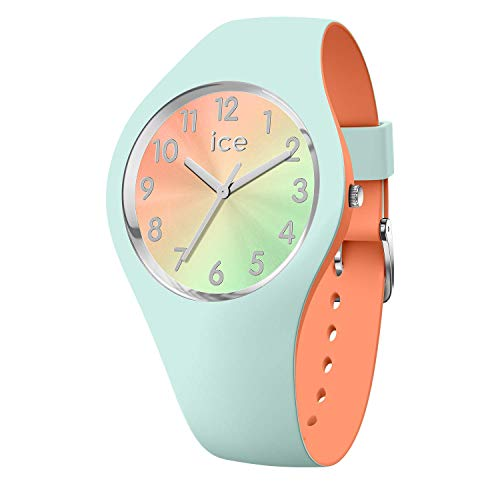 Ice-Watch - Ice Duo Chic Aqua coral - Damen wristwatch mit Silikonarmband - 016981 (Small)