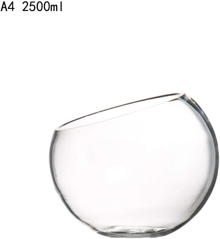 XL_Corbeilles à fruits Assiettes à fruits en verre créatif bol à salade inclinée assiette de fruits plat de service pot chaud pot magasin vaisselle vaisselle bol présentoir de fruits ( Couleur   A4 )