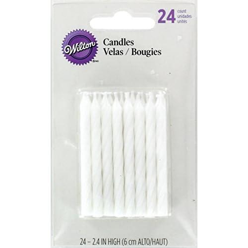 Wilton - Candele per Compleanno, Confezione da 24, Colore: Bianco