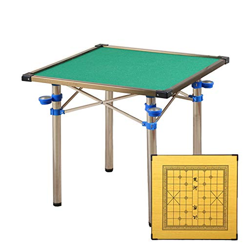 Mesa De Mahjong Plegable,Mesa De Mahjong, Mesa De Mahjong Portátil, Mesa De Mahjong De Doble Propósito, 4 Ceniceros, Adecuada para Entretenimiento/Fiesta/Estudio/Trabajo