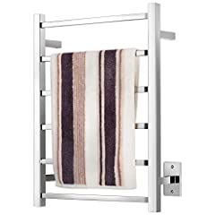 PREMIUM MATERIAL & Craft - This towel warmer is made of 304 stainless steel, expertly welded in unique designs and have excellent rust & corrosion resistance. Wall-Mounted & Hard-wired - This towel warmer doesn't come with the switch. This towel warm...