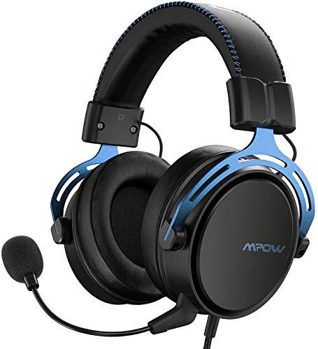 Mpow Air SE Auriculares para Juegos,  Auriculares para Juegos con Sonido Envolvente con micrófono con cancelación de Ruido,  Auriculares multiplataforma para PC / PS4 / Xbox One/Switch