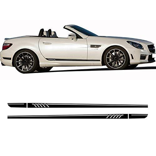 YKANZS Autotür Seitenstreifen Rock Aufkleber Aufkleber, Für Mercedes Benz SLK SLC Klasse R170 R171 R172 SLK55 AMG...
