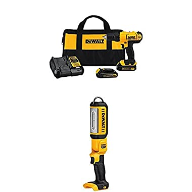 Dewalt  Cordless Compact Drill Driver Kit with LED Hand Held