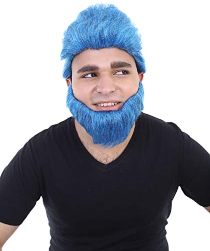 Halloween Party Online The Apocalypse Beast Wig, Blue Adult HM-057
