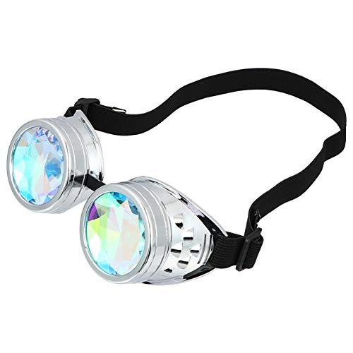 Tomaibaby Gafas Caleidoscopio Gafas Goth Gafas Arco Iris Cristal Gafas Cosplay Accesorios