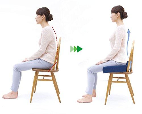 コジット『腰椎対策クッションネイビー』