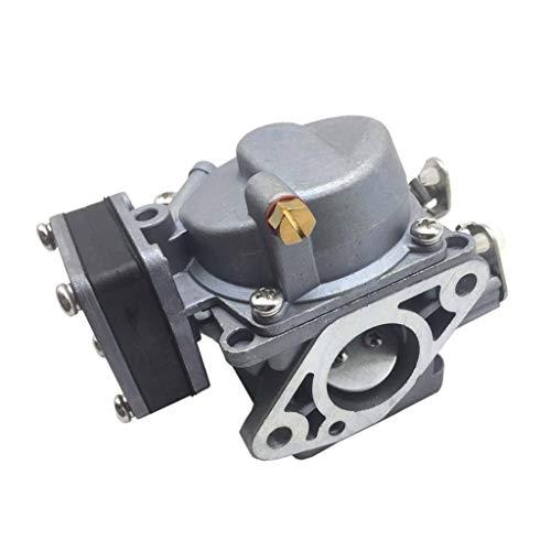 P Prettyia Carburador de Barco, Carburador de Repuesto de Metal para Motor Fueraborda de 2 Tiempos 9.8PS,