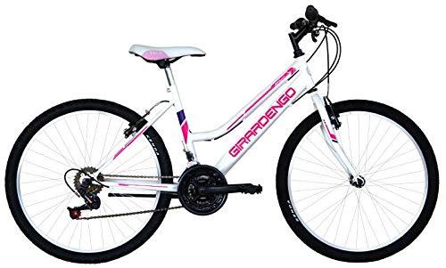 MASCIAGHI Bicicletta 24' MTB Donna GIRARDENGO 18 Velocita' • Bianco/Fuxia
