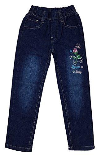Unbekannt Bequeme Mädchen Jeans mit rundum Gummizug, Gr. 128/134, M88.10e