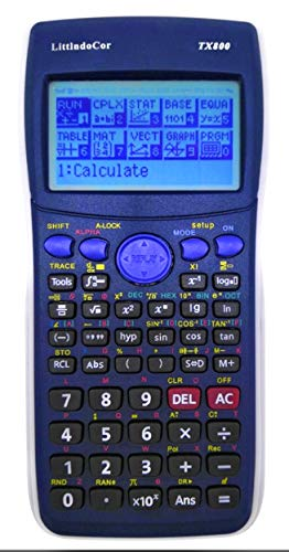 Graphing Calculator TX800 Programmable Professional Grade Scientific Calculator Large Screen Size. 2.23 x 1.16 inches. with 128 x 64 Pixels Resolution for Clear readable Display.