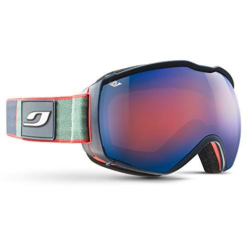 Julbo Airflux Masque de Ski pour Porteur de Lunettes de Vue OTG Homme, Bleu/Orange/Vert, XL+