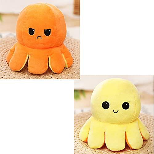 smile peluche Giocattolo di polpo Simpatico giocattolo di polpo Giocattolo per bambini Regalo Ornamenti per bambole reversibili a doppia faccia per bambini