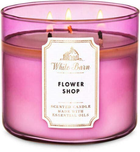 White Barn Bath & Body Works Flower Shop Scented Candle 3 Wick 14.5 OZ