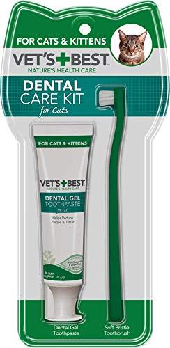 Vet's Best Pasta de Dientes para Gatos, Limpieza de Dientes y Kit de Gel de Cuidado Dental de Respiración Fresca 140 g