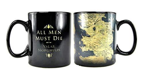 Game Of Thrones Juego de Tronos Taza Efecto térmico de Poniente Essos, 400ml
