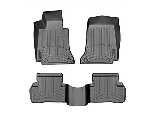 WeatherTech Custom Fit FloorLiner for Mercedes-Benz C-Class - 1st & 2nd Row (Black)