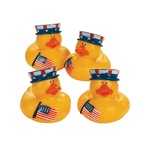 Fun Express Patriotic Rubber Ducks (Set of 12) Fourth of July