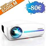 Videoproiettore,WiMiUS 6500 Lumen Proiettore Nativa 1920 x 1080P LED Full HD Supporto 4K V...