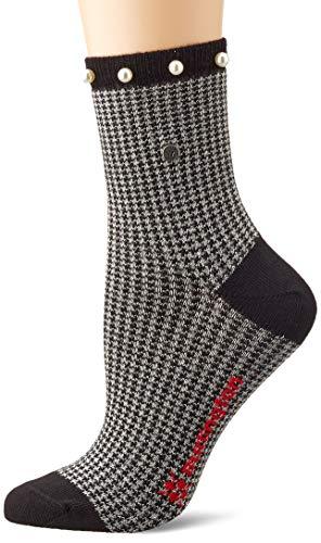 Burlington Damen Pepita Pearl Lässige Socken, schwarz (black 3000), Einheitsgröße (DE 36-41)