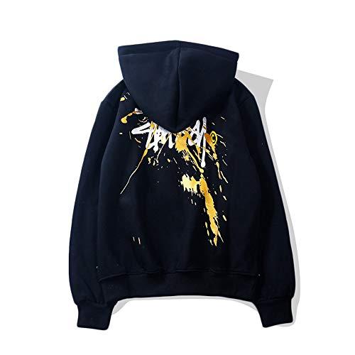 MONA@FILTER Le Donne Mens Classic Stuss-y Felpe con Cappuccio Moda per Adolescenti Sweatershirt Casual Top Sportivo