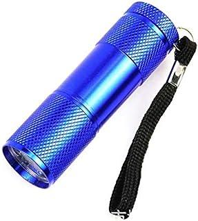 comprar comparacion Linterna UV - Mini 9LED Linterna UV Rayos ultravioleta Detector de tinta invisible Luz de antorcha para comprobar el diner...