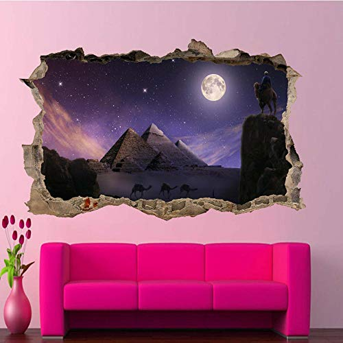 Pegatinas de pared-3D-Luna etiqueta de la pared arte cartel calcomanía mural-50x70cm