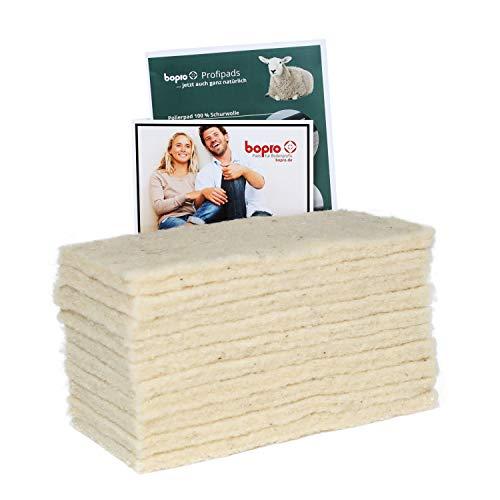 Superweiche Schafwollpads (10 x Wollpads) - ideal zum Nachölen von geölten Parkettböden (10 x Wollpads)