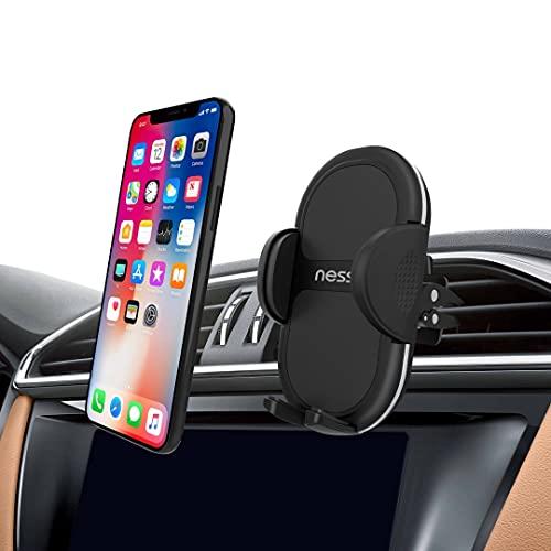 NessKa Soporte de teléfono móvil para el coche, giratorio 360°, agarre muy estable, soporte universal para todos los teléfonos móviles iPhone, Huawei, Xiaomi, Samsung Galaxy, Nokia, One Plus