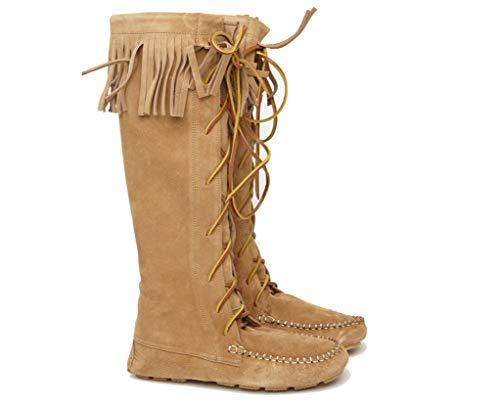 Sendra Boots Indianerstiefel, Wildleder, mit Fransen, Camel, Braun - Camel - Größe: 38 EU
