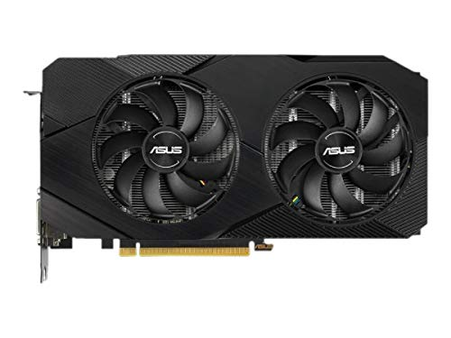 ASUS Dual Nvidia GeForce RTX 2060 6GB EVO Advanced Edition Gaming Grafikkarte (GDDR6 Speicher, PCIe 3.0, 1x HDMI 2.0b, 1x DVI, 1x DisplayPort 1.4, DUAL-RTX2060-A6G-EVO)